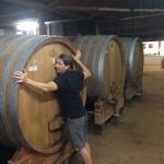 Jean-Paul embracing a barrel